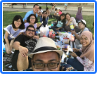 With new Indonesian friends at Southbank (Australia Day picnic)